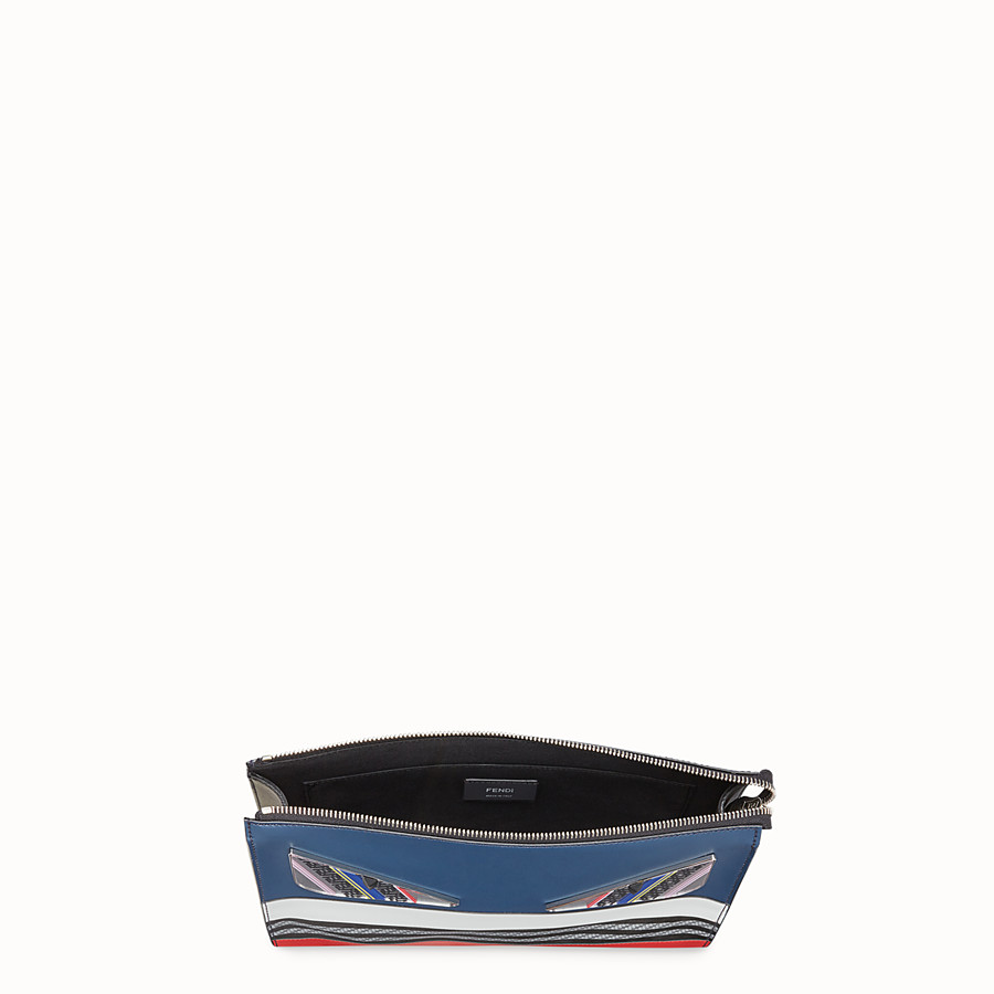 FENDI CLUTCH - Multicolor leather slim pouch - view 4 detail