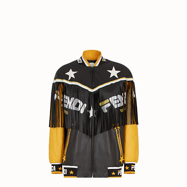 FENDI JACKET - Multicolour leather bomber jacket - view 1 small thumbnail