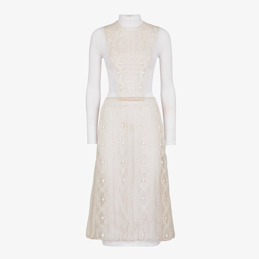 FENDI DRESS - White nylon dress - view 1 detail
