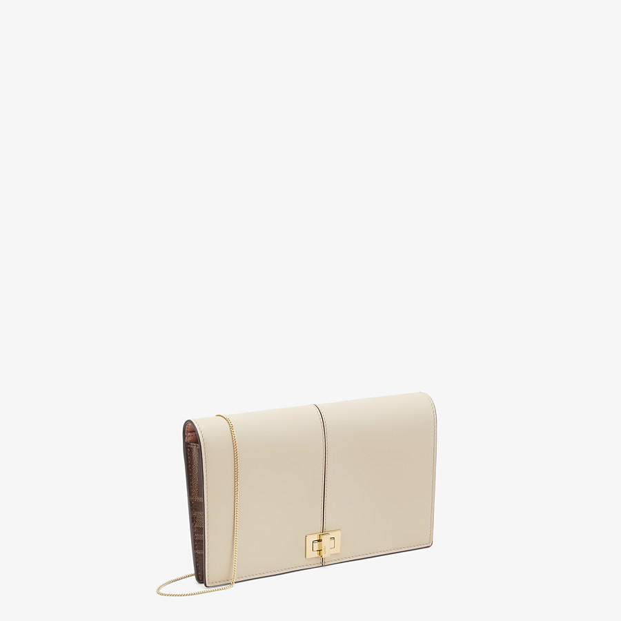 FENDI WALLET ON CHAIN - Beige leather mini bag - view 2 detail