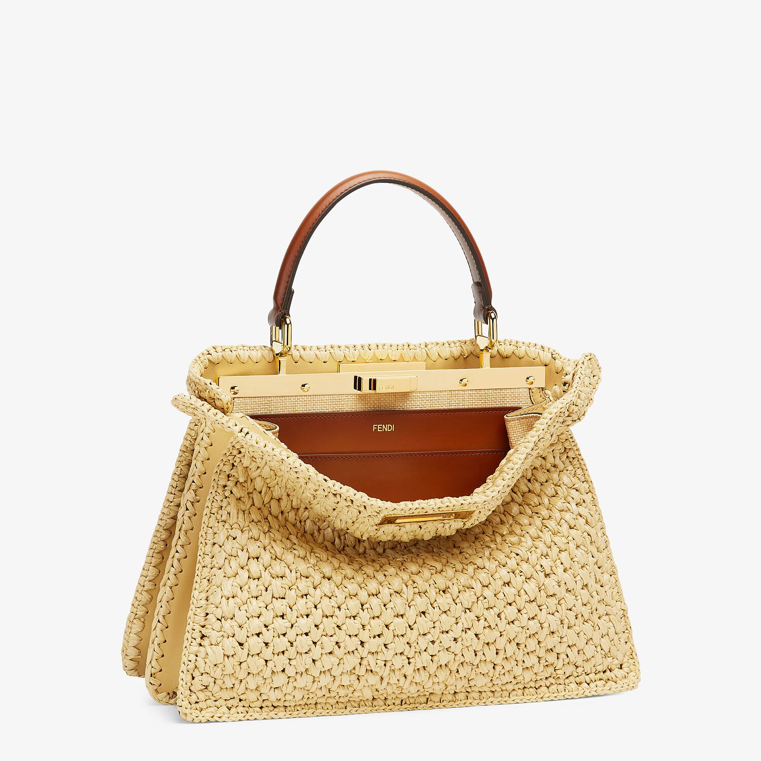FENDI PEEKABOO ISEEU MEDIUM - Woven straw bag - view 5 detail