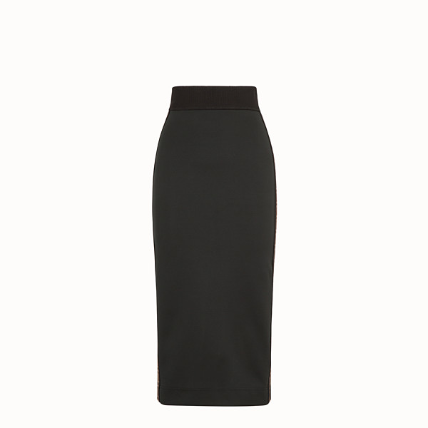 FENDI SKIRT - Black jersey skirt - view 1 small thumbnail