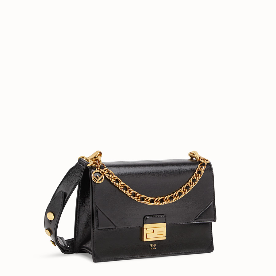 FENDI KAN U - Black leather bag - view 2 detail