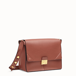 FENDI KAN U GROSS - Tasche aus Leder in Rot - view 3 thumbnail