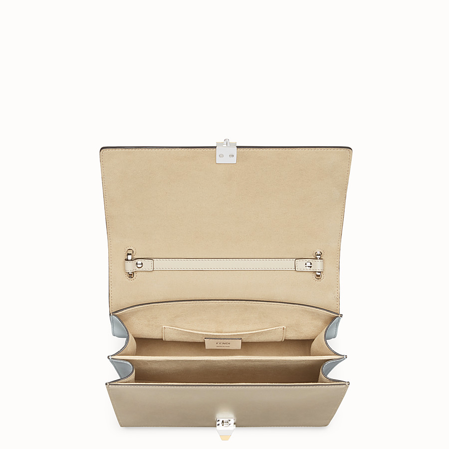 FENDI KAN I - Beige leather bag - view 4 detail