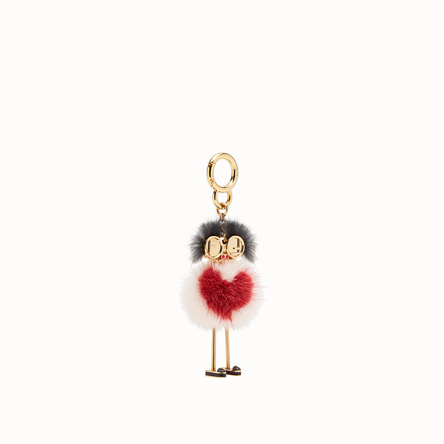 FENDI CHICK BAG CHARM - Multicolour mink charm - view 1 detail