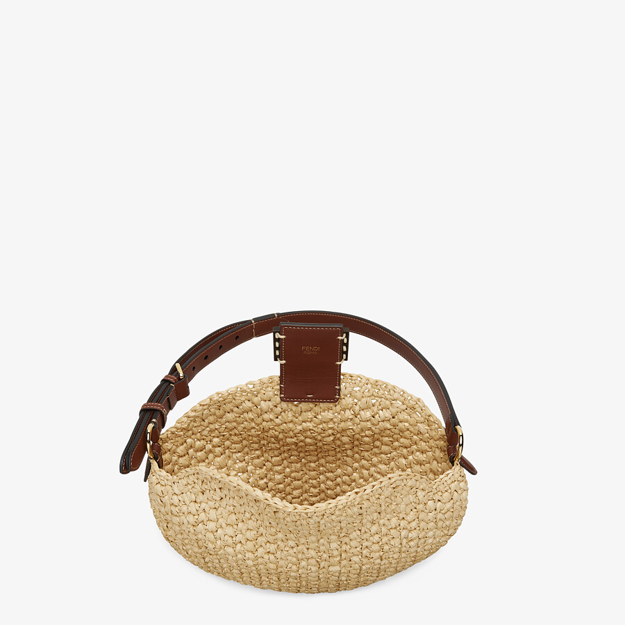 FENDI SMALL CROISSANT - Woven straw bag - view 5 detail