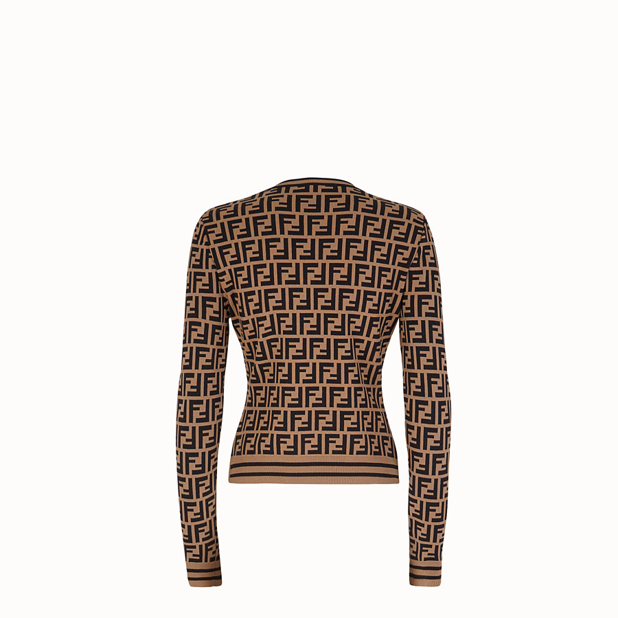 FENDI PULLOVER - Multicolour fabric jumper - view 2 detail