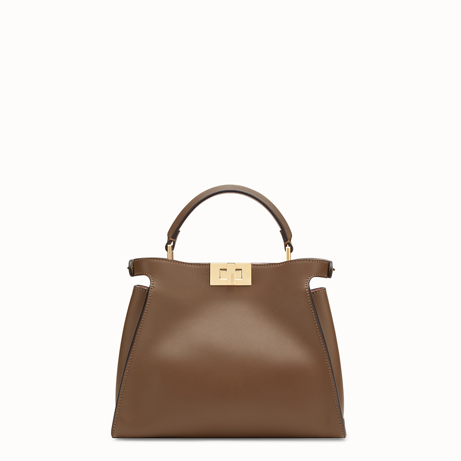 FENDI PEEKABOO ESSENTIAL - Sac en cuir marron - view 4 detail