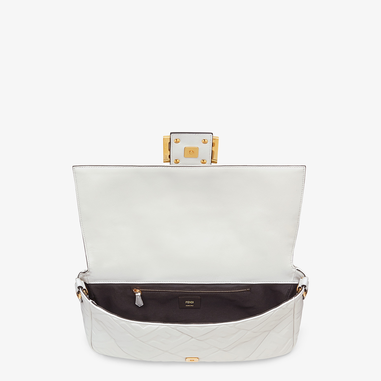 FENDI BAGUETTE LARGE - White leather bag - view 5 detail