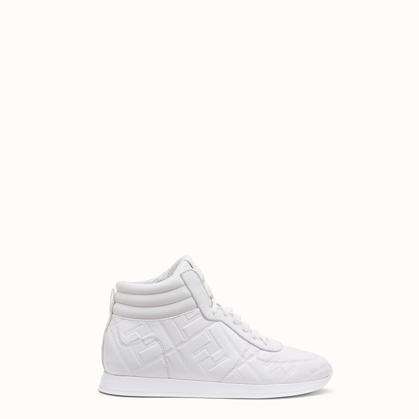FENDI SNEAKERS - White nappa leather high-tops - view 1 small thumbnail