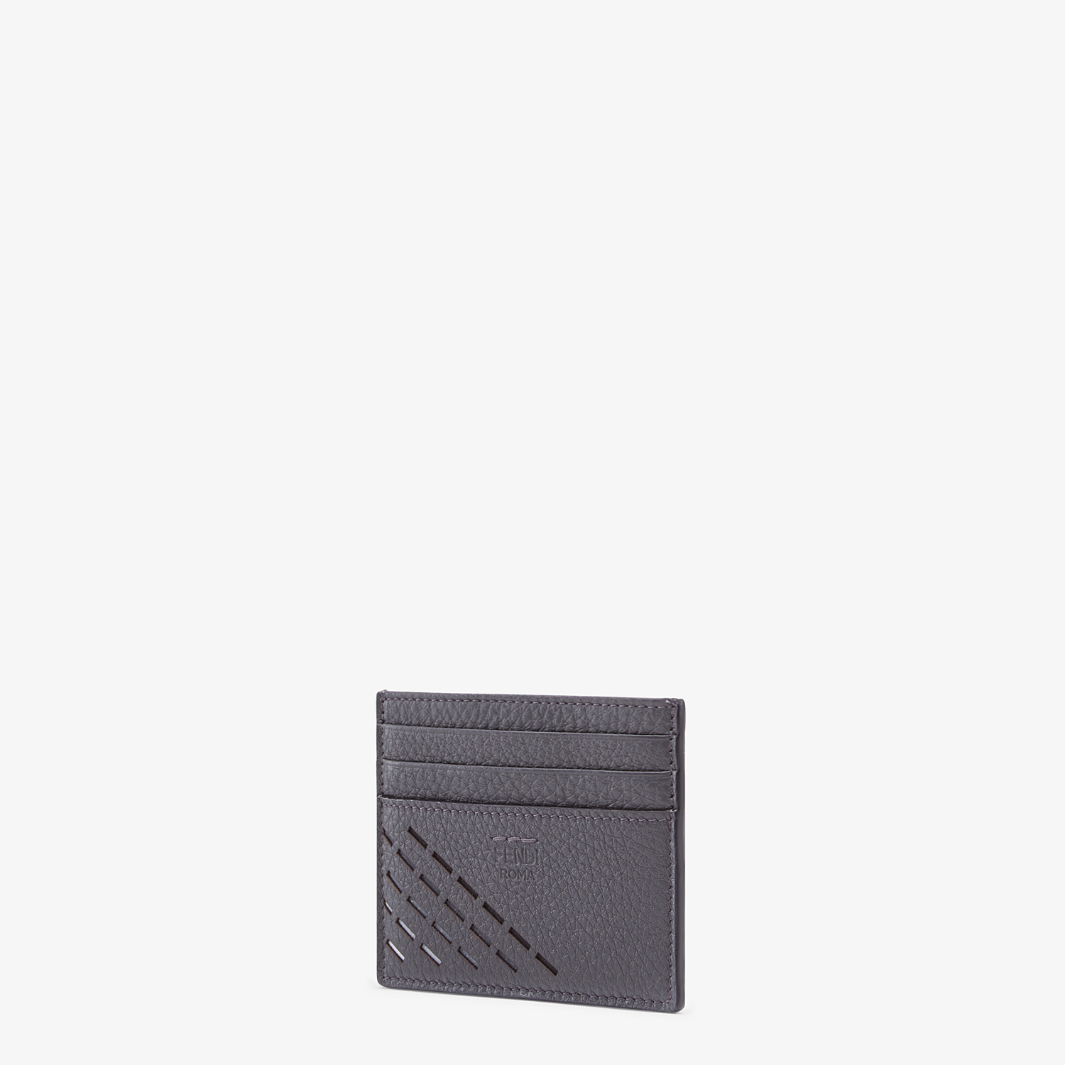 FENDI CARD HOLDER - Gray leather card holder - view 2 detail