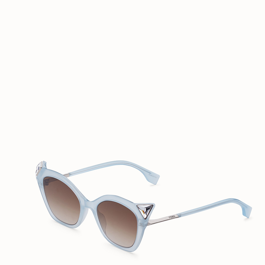 FENDI IRIDIA - Blue and opal blue sunglasses - view 2 detail