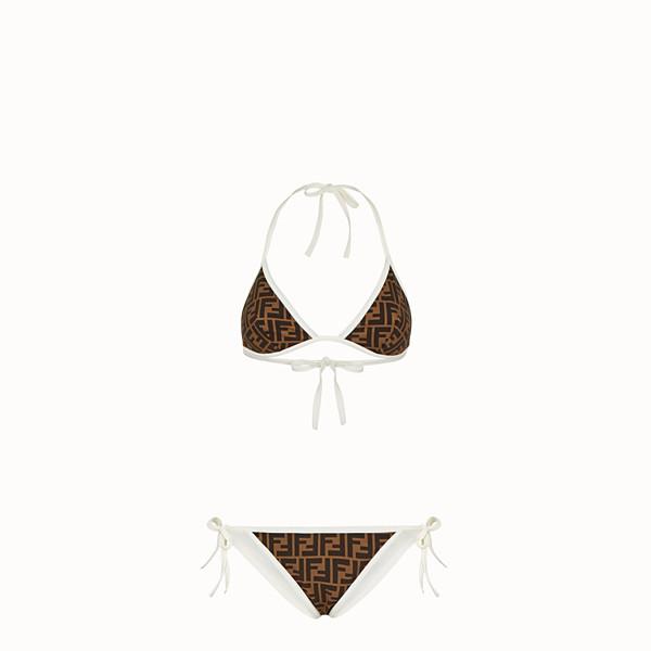 FENDI BIKINI - Bikini in Lycra bianco - vista 1 thumbnail piccola