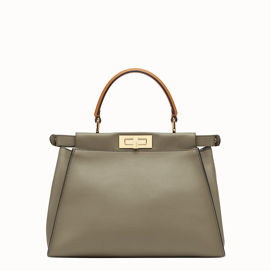 FENDI PEEKABOO REGULAR - Green leather bag - view 5 detail