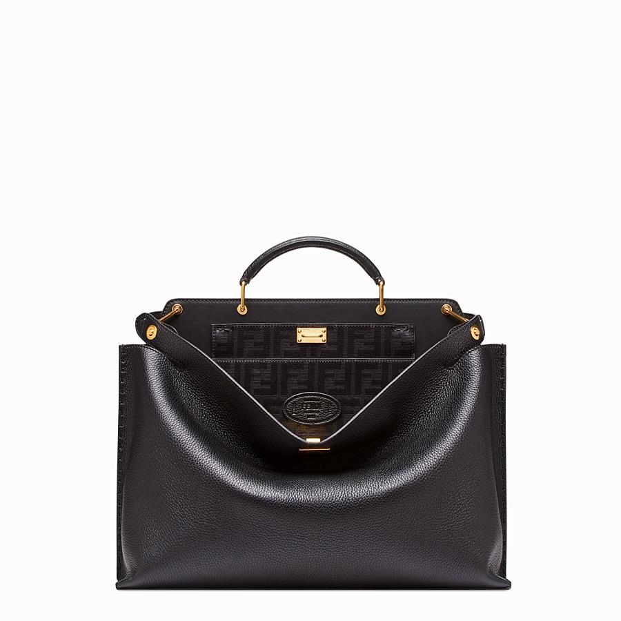 FENDI PEEKABOO ICONIC ESSENTIAL - Black leather bag - view 1 detail