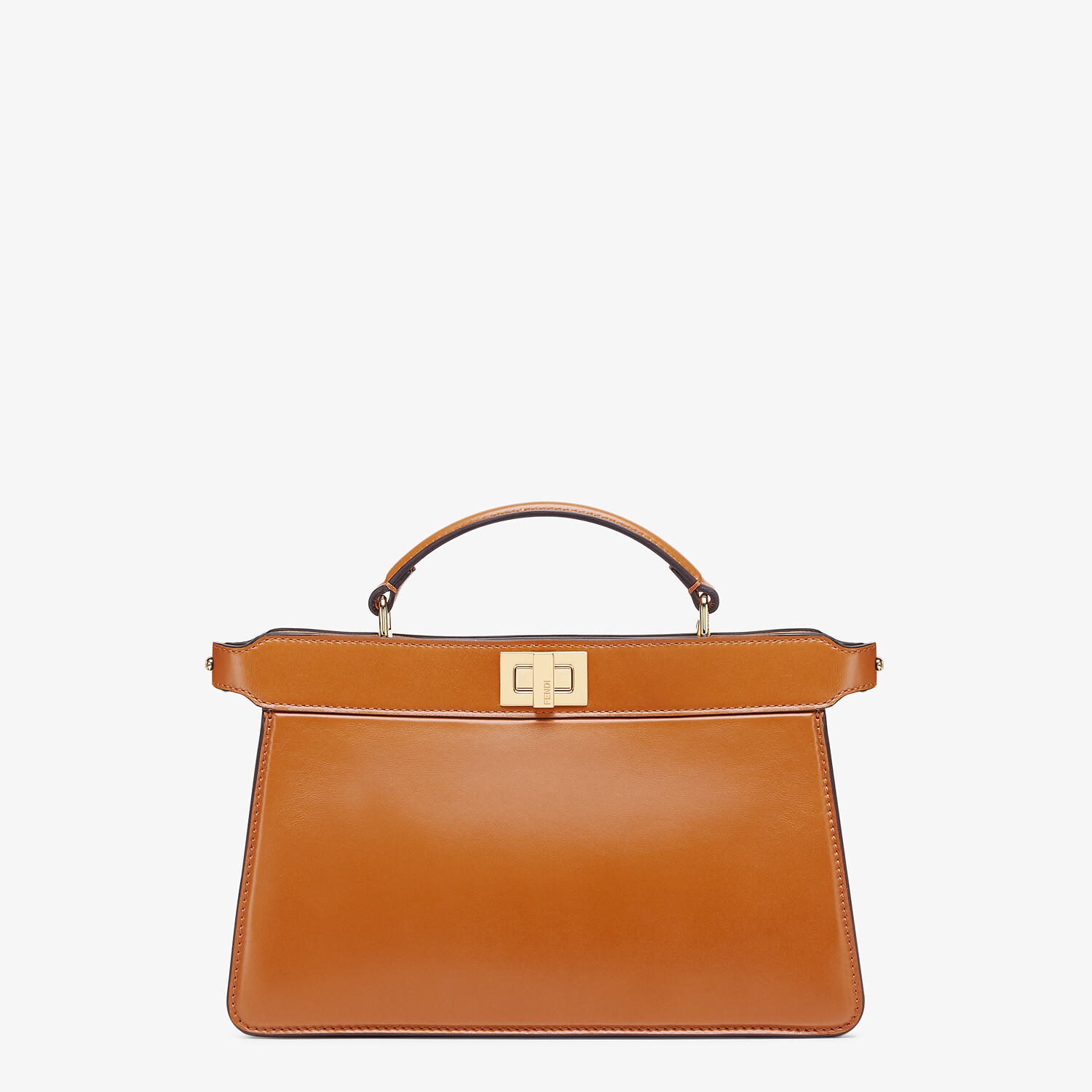 FENDI PEEKABOO ISEEU EAST-WEST - Brown leather bag - view 1 detail