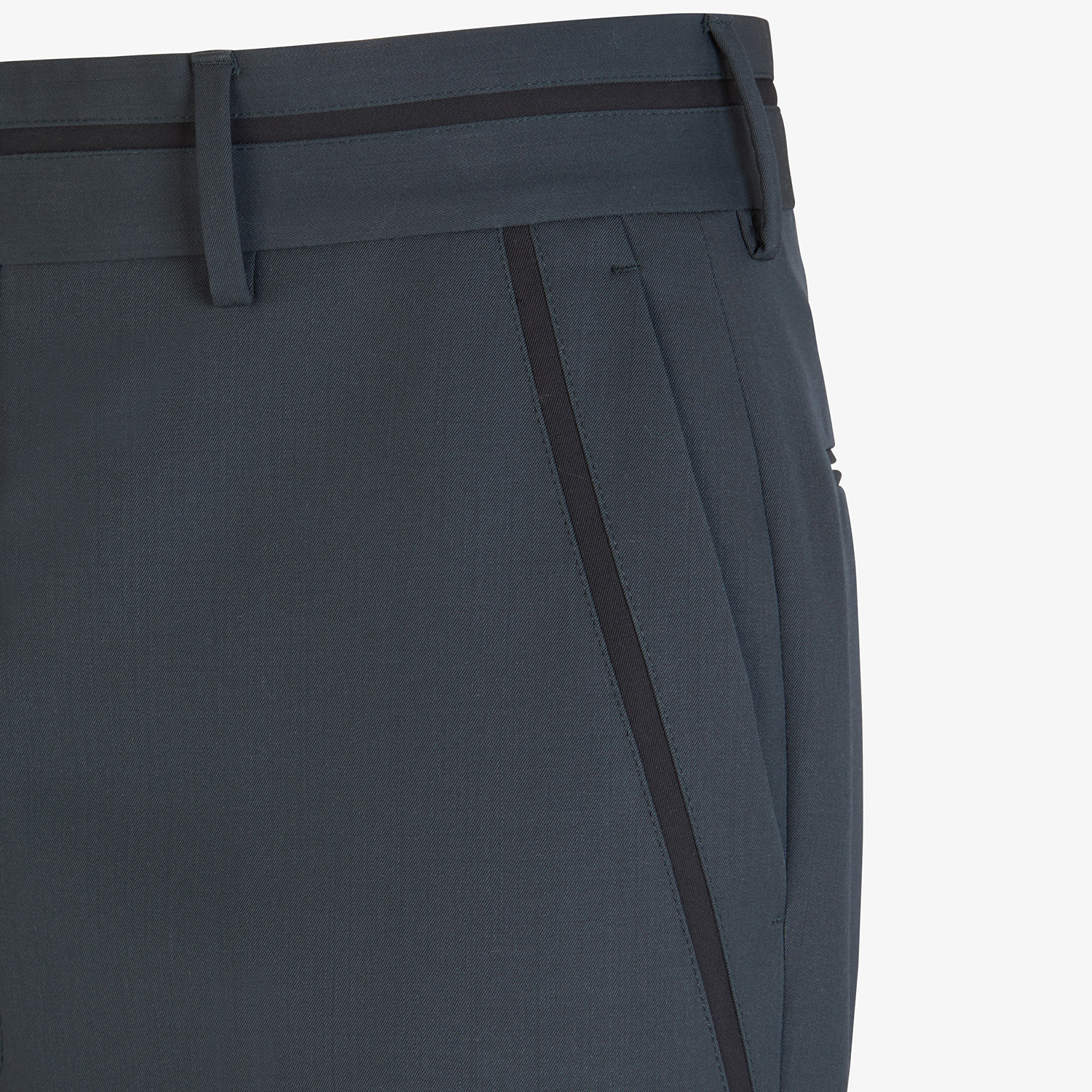 FENDI TROUSERS - Grey twill trousers - view 3 detail