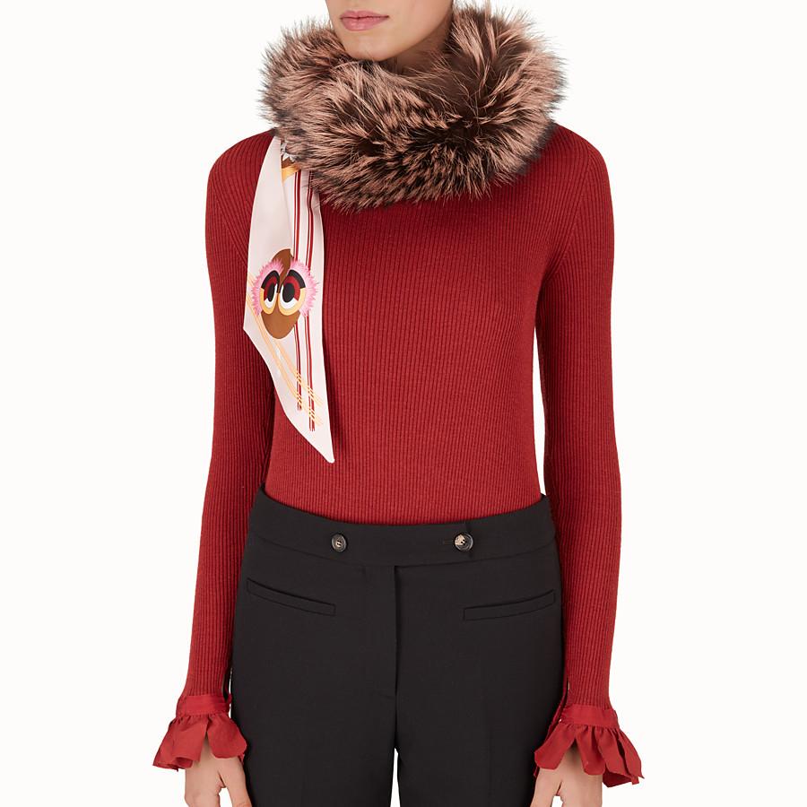 FENDI COLLAR - Fur collar in shades of brown - view 3 detail