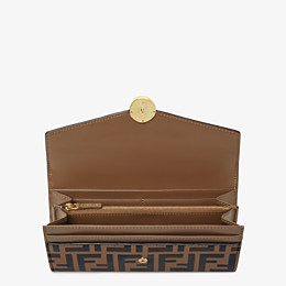 FENDI CONTINENTAL - Brown leather wallet - view 4 thumbnail