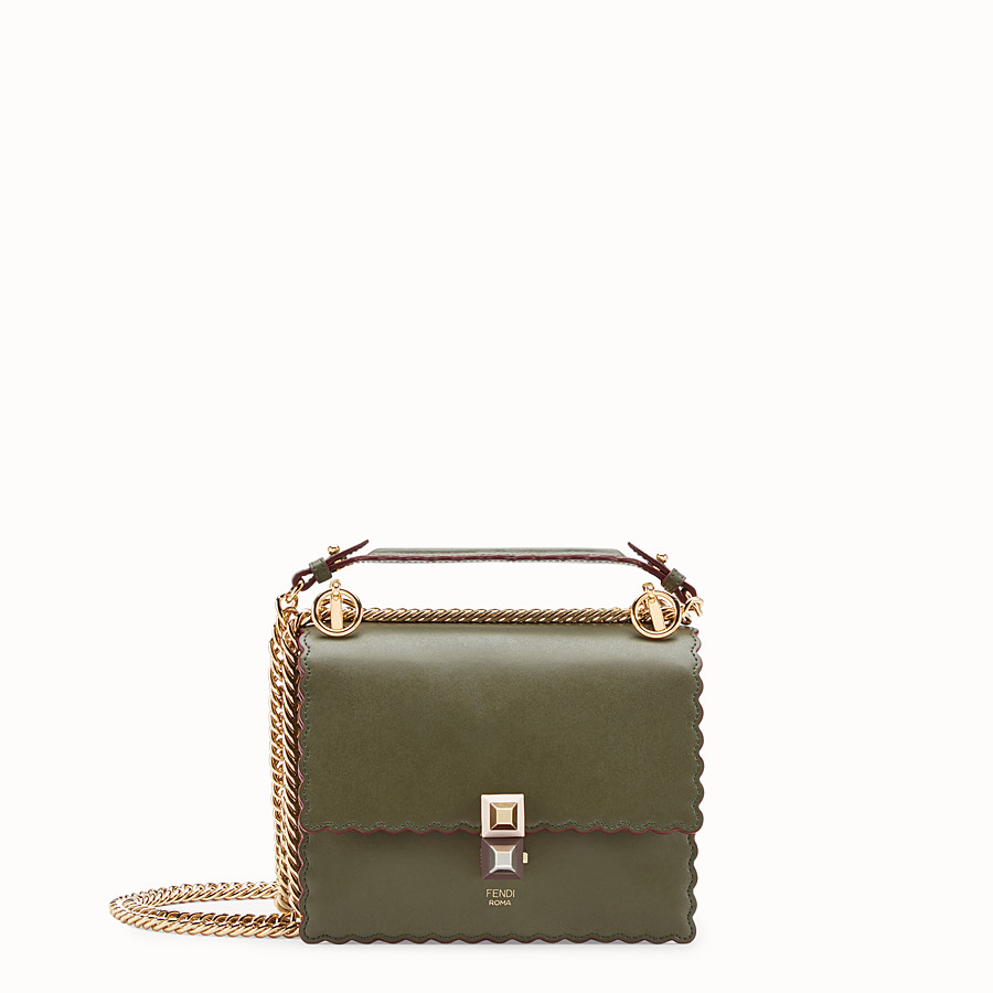 FENDI KAN I SMALL - Green leather mini-bag - view 1 detail