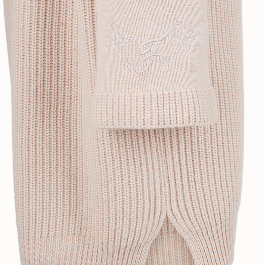 FENDI DRESS - Pink cashmere dress - view 3 detail