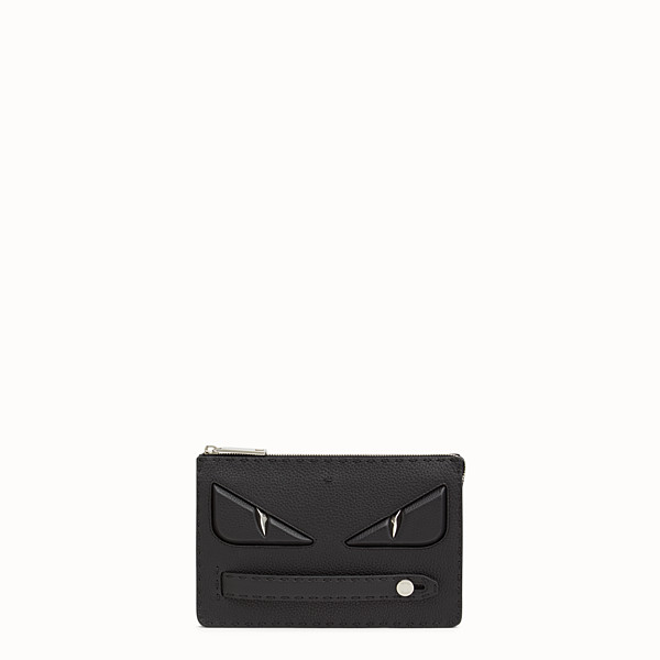 FENDI CLUTCH - in black Roman leather - view 1 small thumbnail