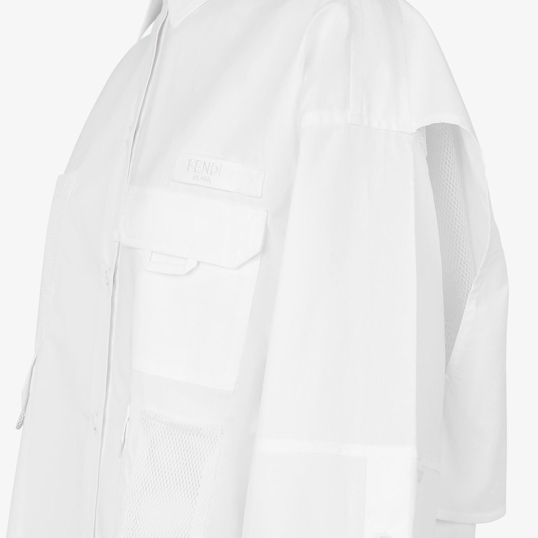 FENDI ドレス - ホワイトポプリン ドレス - view 3 detail