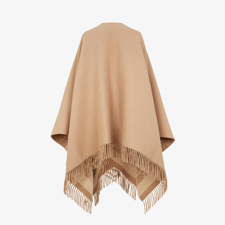 FENDI KARL PONCHO - Beige wool and cashmere poncho - view 2 detail