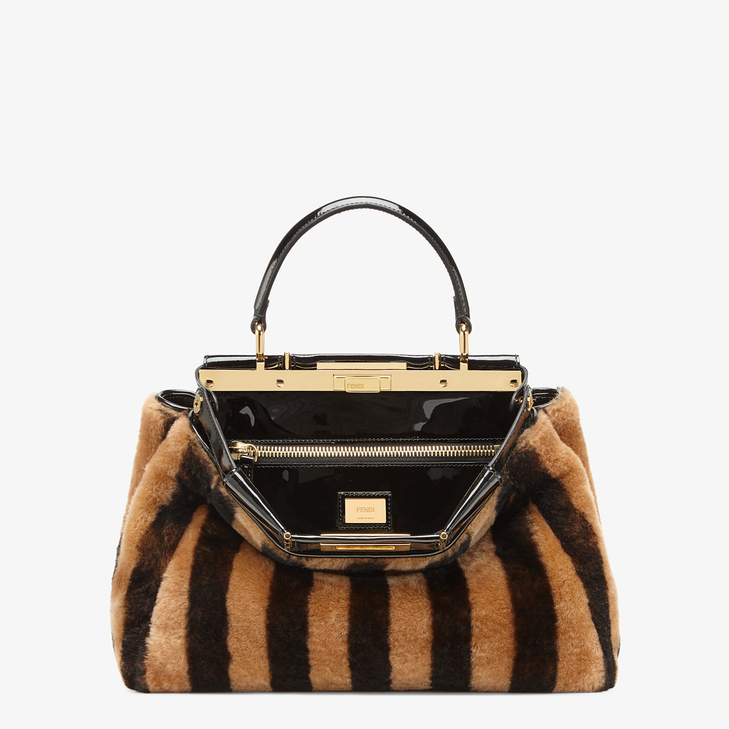 FENDI PEEKABOO ICONIC MEDIUM - Borsa in montone e vinile multicolor - vista 1 dettaglio