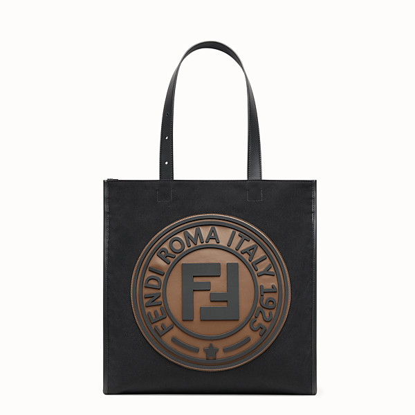 FENDI TOTE BAG - Borsa in canvas nero - vista 1 thumbnail piccola