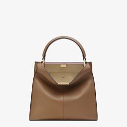FENDI PEEKABOO X-LITE MEDIUM - Grey leather bag - view 2 thumbnail
