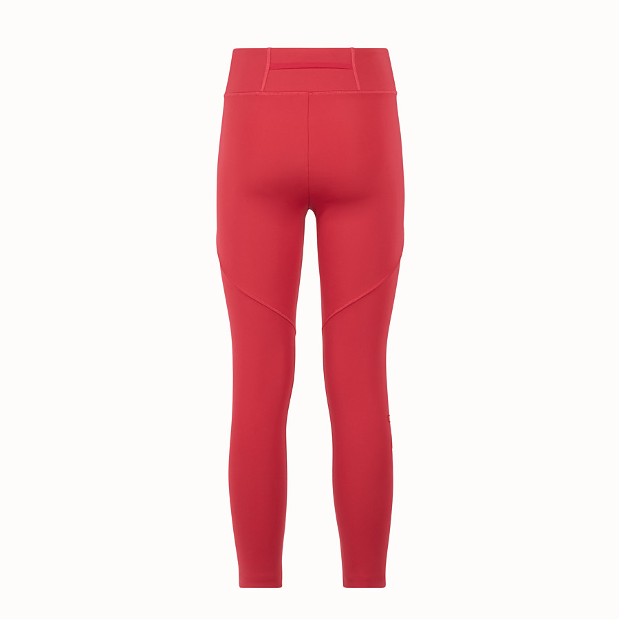 FENDI LEGGINGS - Red tech fabric trousers - view 2 detail