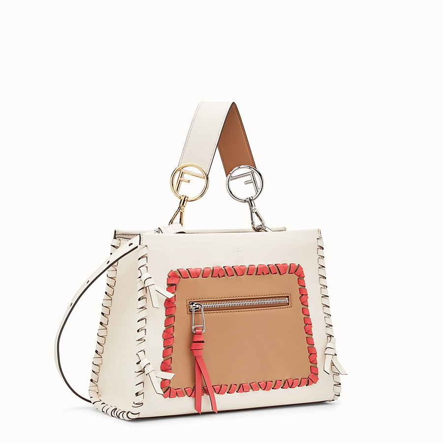 FENDI RUNAWAY SMALL - White leather bag - view 2 detail