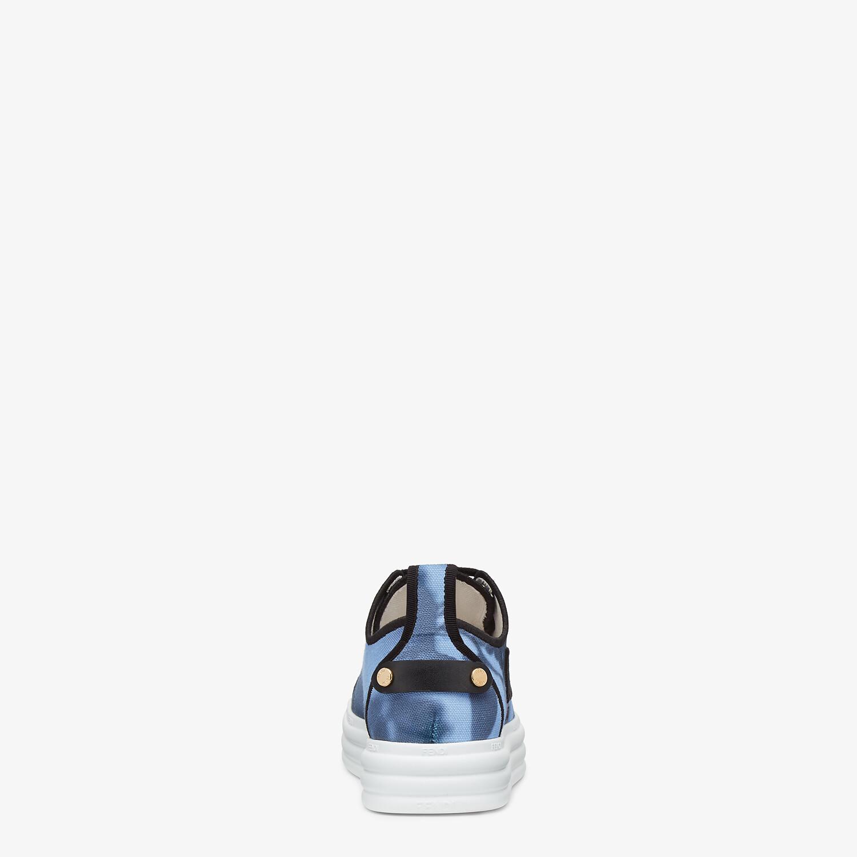 FENDI FENDI RISE - Light blue canvas flatforms - view 3 detail