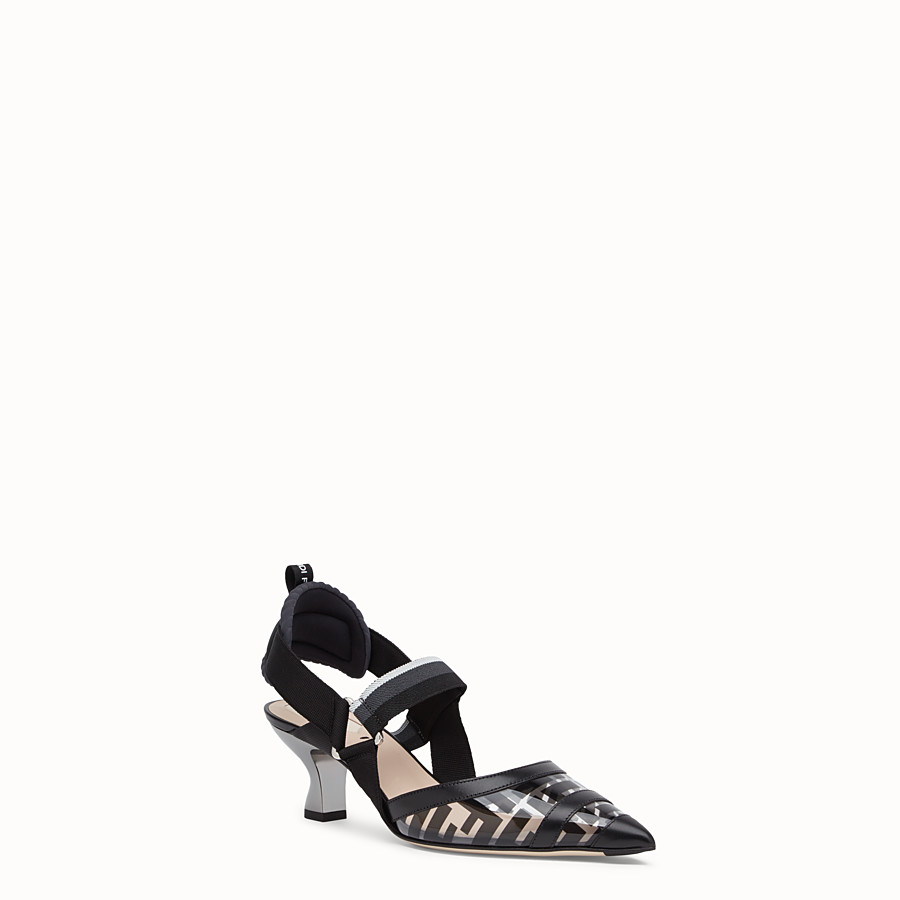 FENDI SLINGBACK - Black leather and PU Colibrì - view 2 detail