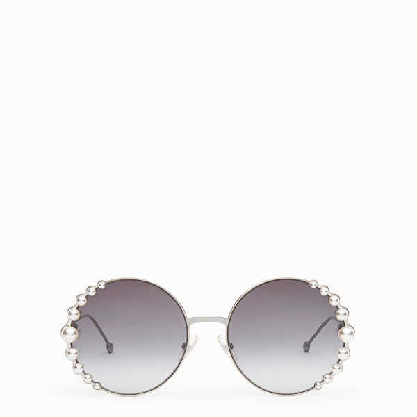 FENDI RIBBONS AND PEARLS - Ruthenium-colour sunglasses - view 1 small thumbnail