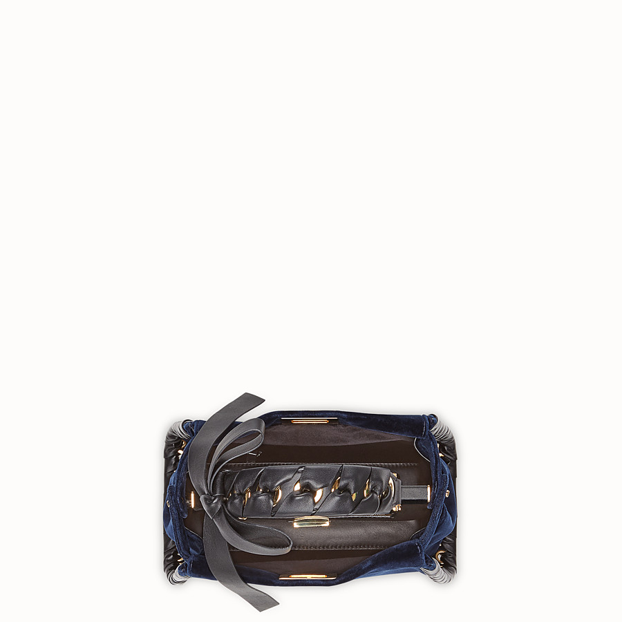 FENDI PEEKABOO MINI - Sac en velours bleu - view 4 detail