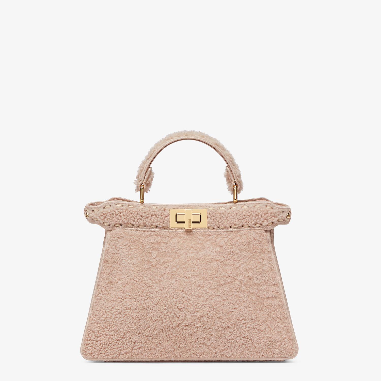 FENDI PEEKABOO ISEEU SMALL - Pink sheepskin bag - view 1 detail