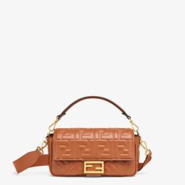 FENDI BAGUETTE - Brown nappa leather bag - view 1 thumbnail