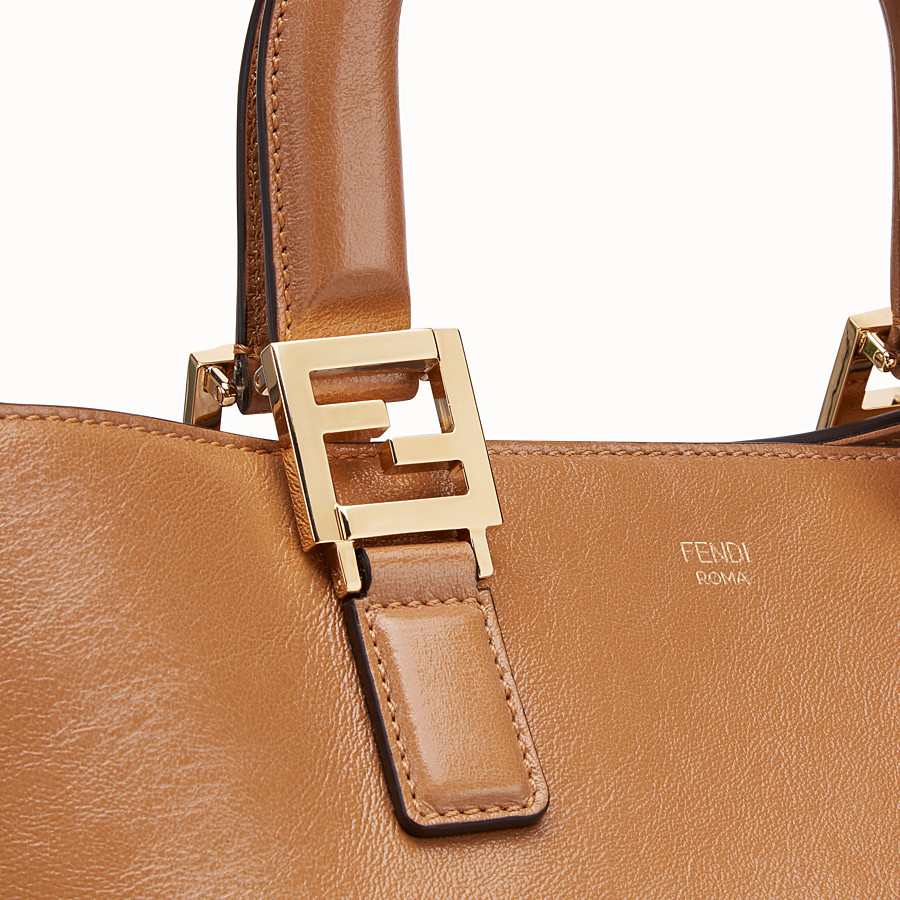 FENDI FF TOTE MEDIUM - Brown leather bag - view 5 detail