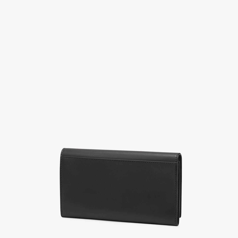 FENDI CONTINENTAL - Black leather wallet - view 2 detail