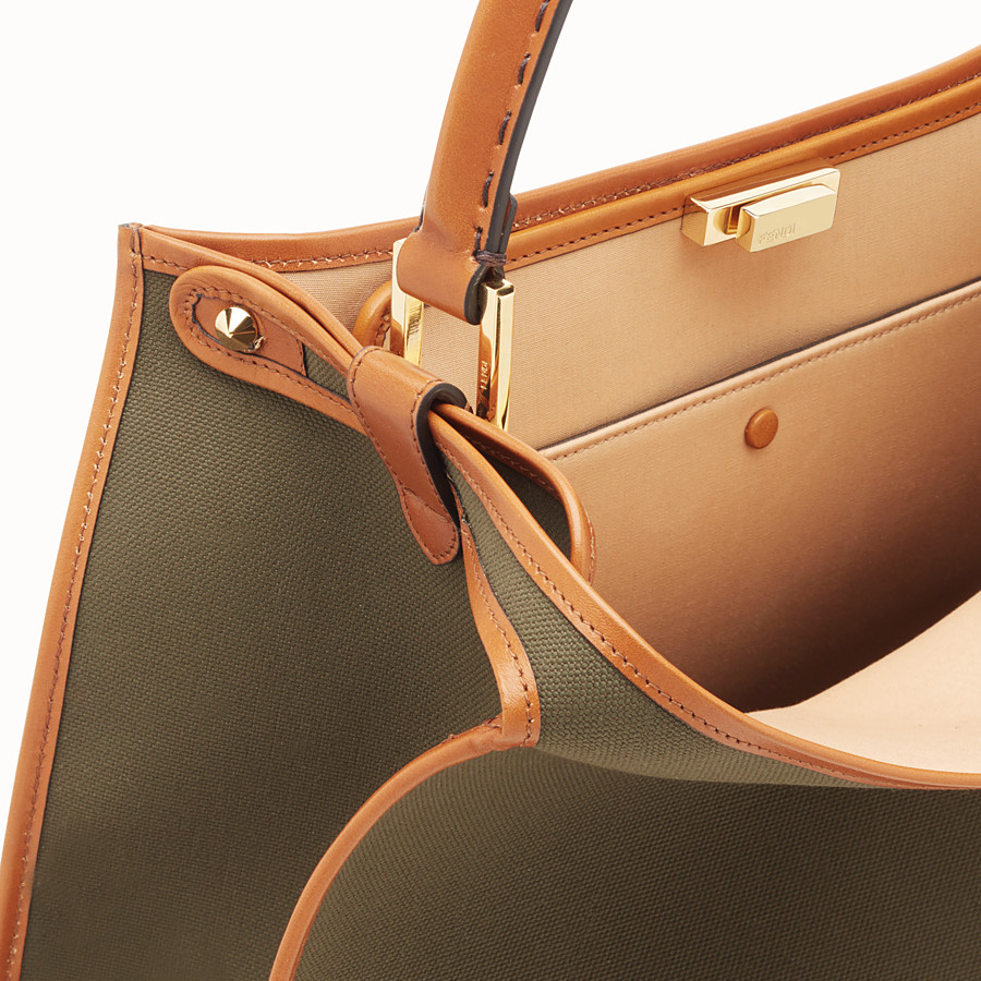 FENDI PEEKABOO X-LITE - Green canvas bag - view 6 detail