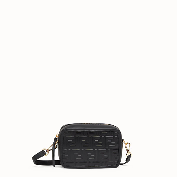 FENDI MINI CAMERA CASE - Black leather bag - view 1 small thumbnail