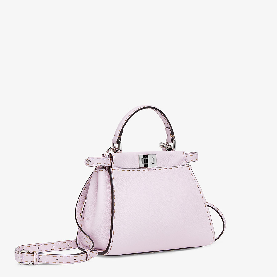 FENDI PEEKABOO ICONIC MINI - Lilac Cuoio Romano leather bag - view 3 detail