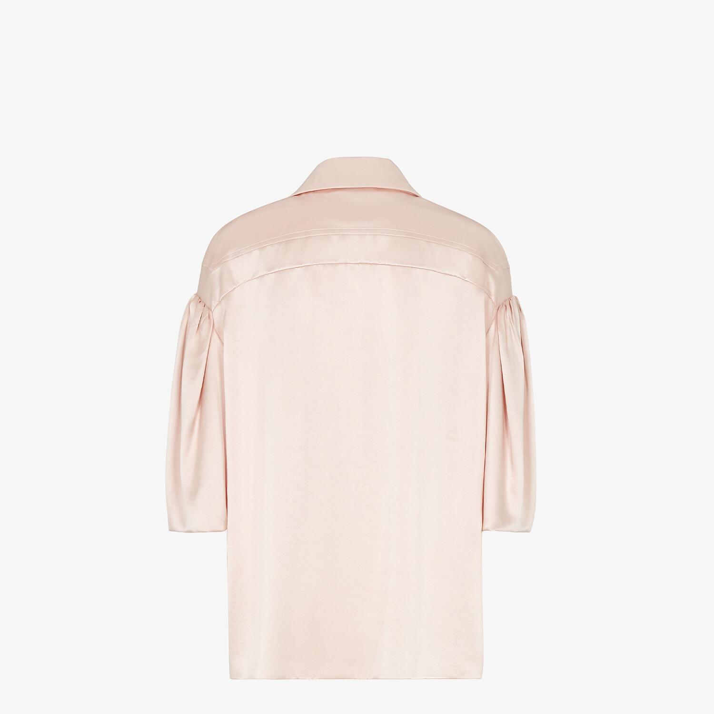 FENDI SHIRT - Pink silk blouse - view 2 detail