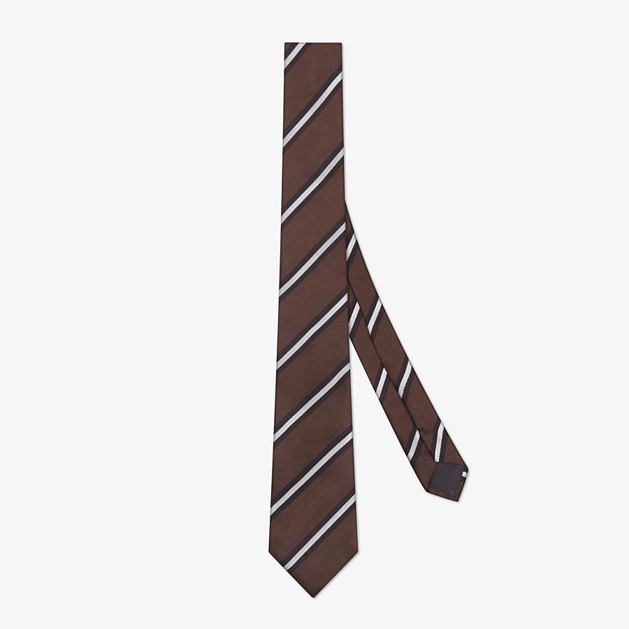 FENDI TIE - Brown silk necktie - view 1 detail