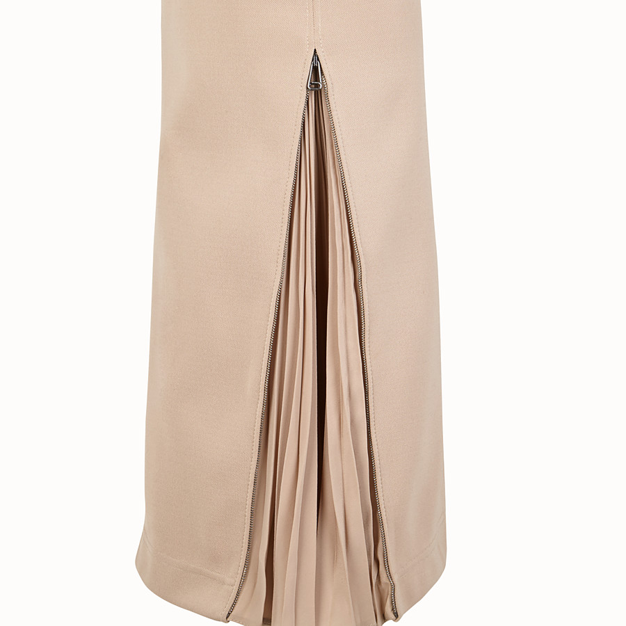 FENDI DRESS - Beige cotton dress - view 3 detail