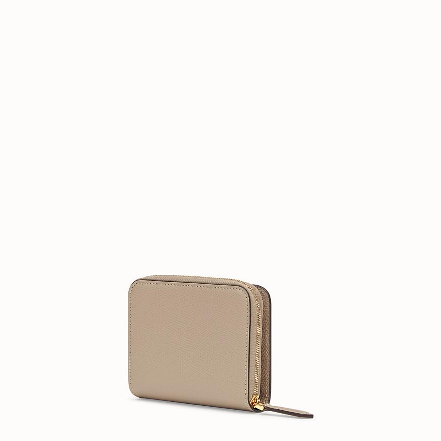 FENDI MEDIUM ZIP-AROUND - Grey leather wallet - view 2 detail