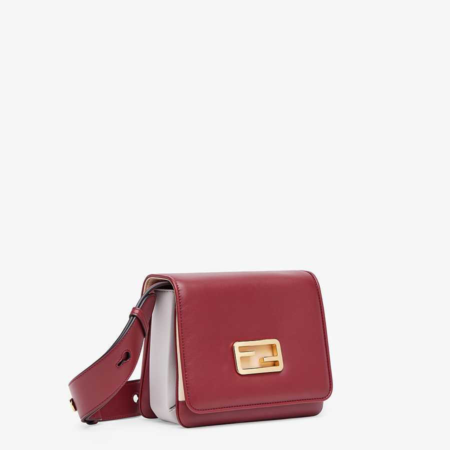 FENDI FENDI ID SMALL - Burgundy leather bag - view 3 detail